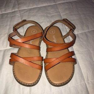 Brown/tan cat & jack sandals
